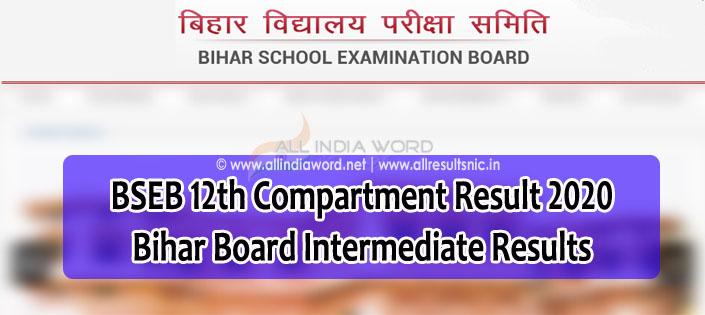 Bihar Intermediate Compartment Result 2020